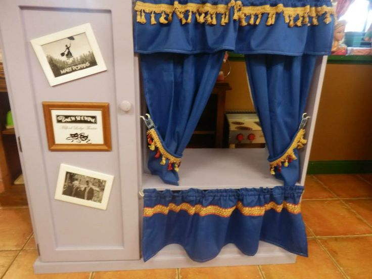 Children's Theatre from old TV cabinet