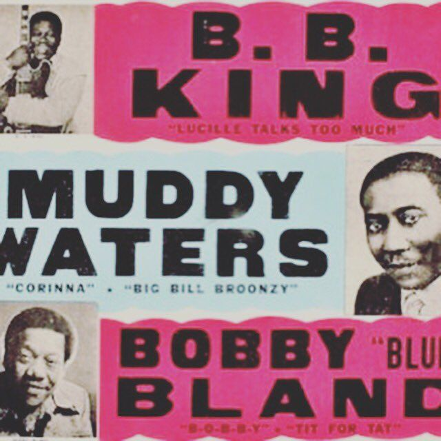 Heck of a show #bbking #muddywaters #bobbybland #concertposter