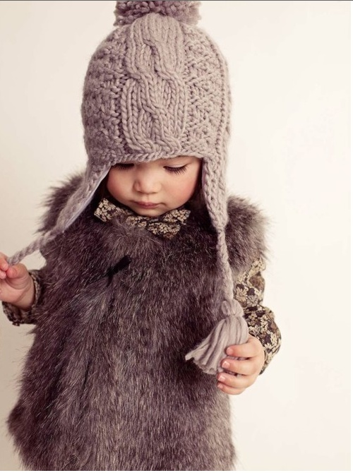 So cute!!: Little Girls, Kids Fashion, Outfit, Baby Hats, Baby Girls, Faux Fur Vest, Knits Hats, Baby Fashion, Furvest