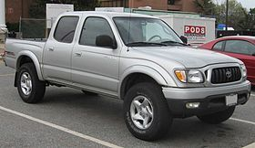 Toyota Tacoma - 1994- 2004  2.4L four-cylinder   2.7L four-cylinder   3.4L V6   as a new crew cab (four-door) model added to the lineup. The crew cab featured four doors, while the extended cabs still opened with two doors. The extended cab featured a 6-foot (2m) bed while the crew cab featured a 5-foot-5-inch (1.65m) bed. Many customers were upset with small crew cab beds, but most competitors shared this shortcoming
