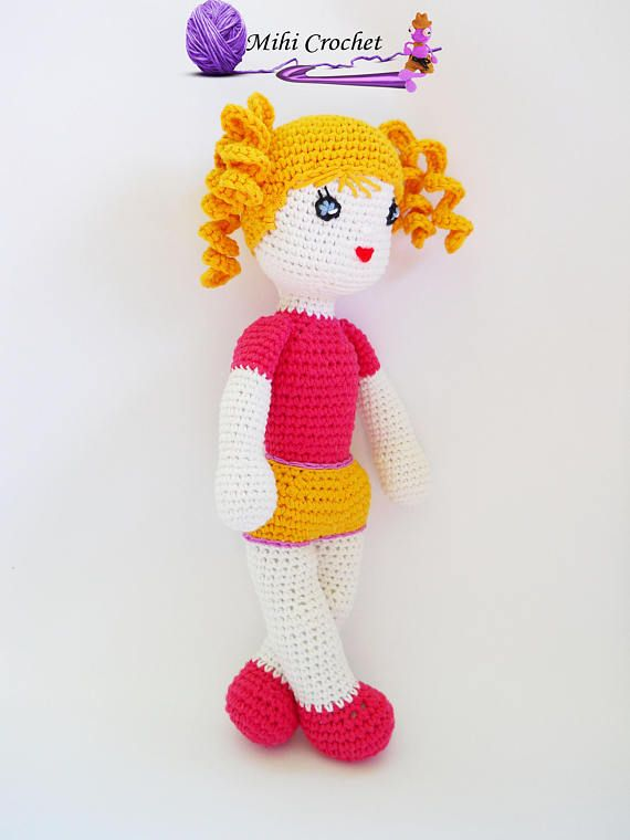 Crochet doll pattern / Amigurumi doll pattern, dool pattern, crochet doll, amigurumi