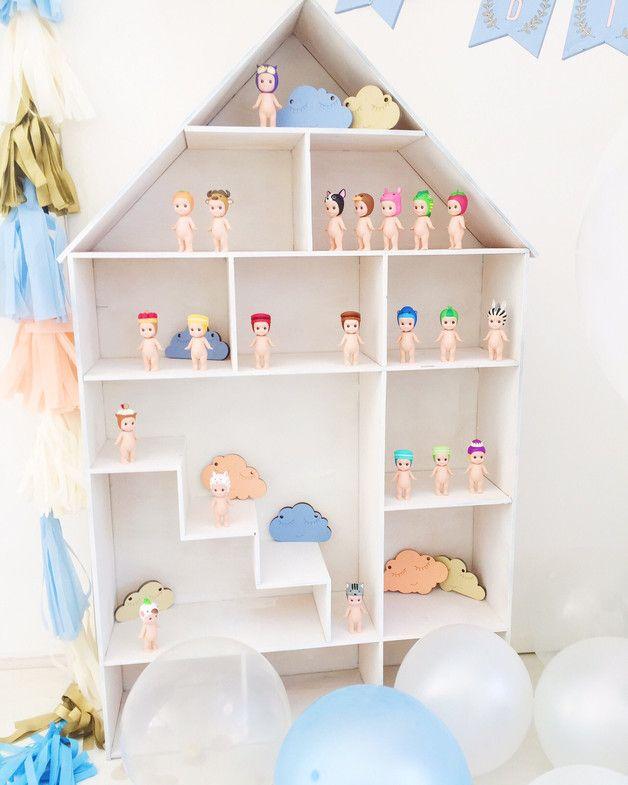 Kinderhaus Regal Kinderzimmer Schrank Puppenhaus