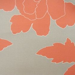 peony coral large floral fabric by dwellstudio