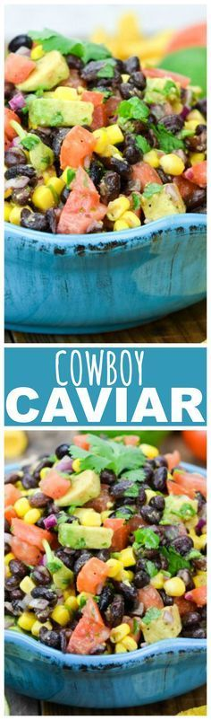 Cowboy Caviar is a Black Bean Salsa, thats healthy and filling  and most importantly—fabulously yummy!