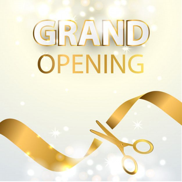 Grand Opening Event Design Background Grand Opening Event Design Vector Business Card