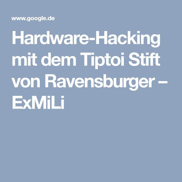 Hardware-Hacking mit dem Tiptoi Stift von Ravensburger – ExMiLi