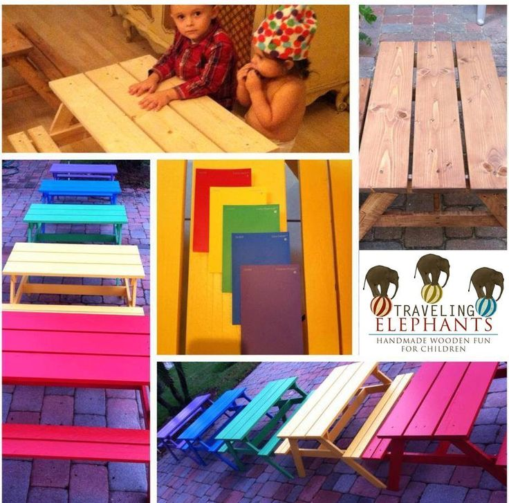 Toddler Picnic Table, Indoor or Outdoor, Kids Picnic Table, Bright & Colorful Toddler Picnic Tables- You pick the color! by TravelingElephants on Etsy https://www.etsy.com/listing/249049880/toddler-picnic-table-indoor-or-outdoor