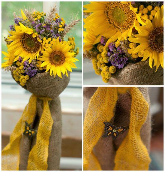 Lumanari mireasa cu floarea soarelui