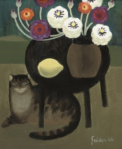 Mary Fedden, R.A. (1915-2012) - Cat and Lemon, 2006