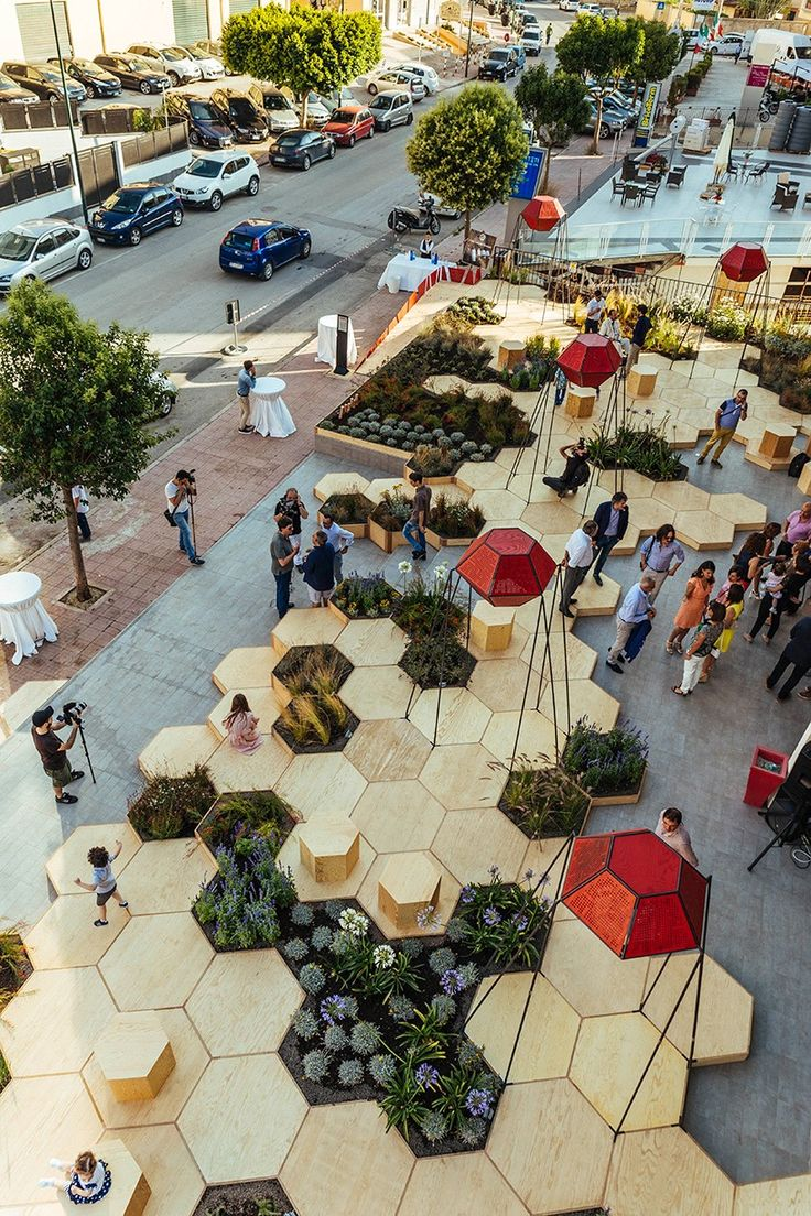 OFL installs zighizaghi, a multi-sensory urban garden in italy