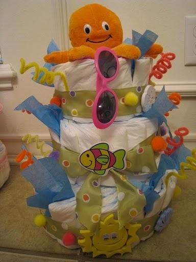 Ocean Fun Diaper Cake
