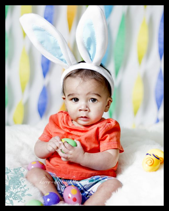 Baby Boy, Easter, Bunny Photography