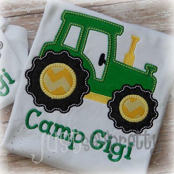 Cute Tractor Embroidery Applique Design