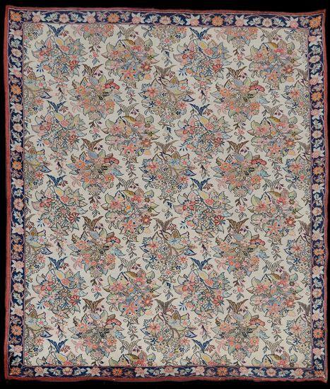 Persian Qom rug, wool and silk, 1950