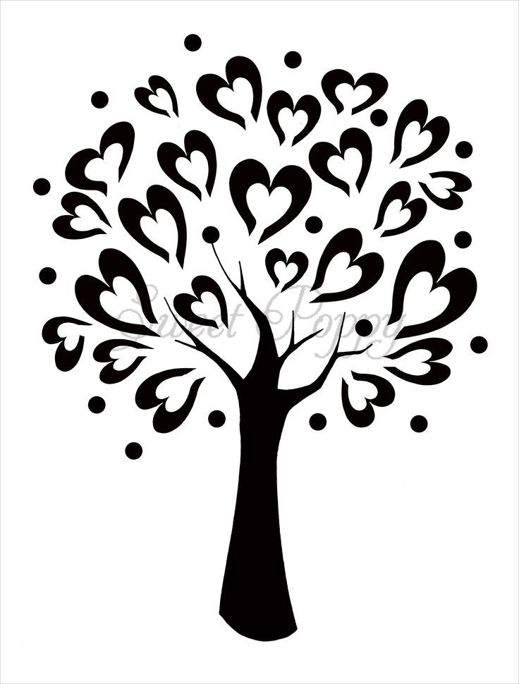 tree stencils | Sweet Poppy Stencil: Tree of Love. Para armar libro de firmas.