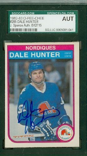 Dale Hunter AUTO 1982 OPC Nordiques SGC/JSA by Regular O-PEE-CHEE Issue. $9.00. This card was signed by Dale Hunter and authenticated by JSA - a leading 3rd party authenticator