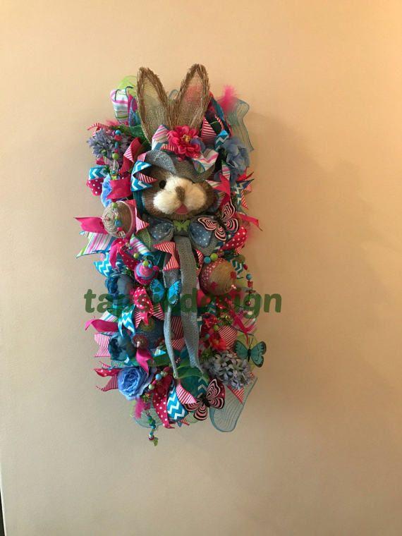 Bunny Door Hanger Bunny Door Swag Easter by TapsikDesign on Etsy