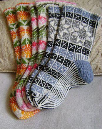 "Socks ""Calendula"", ""Fabulous flower"",""Grayscale -2"""