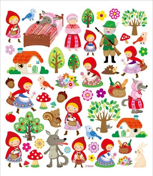 Little Red Riding Hood Sticker. Use these educational stickers as classroom tools to motivate; inspire; educate; and reward young achievers! They