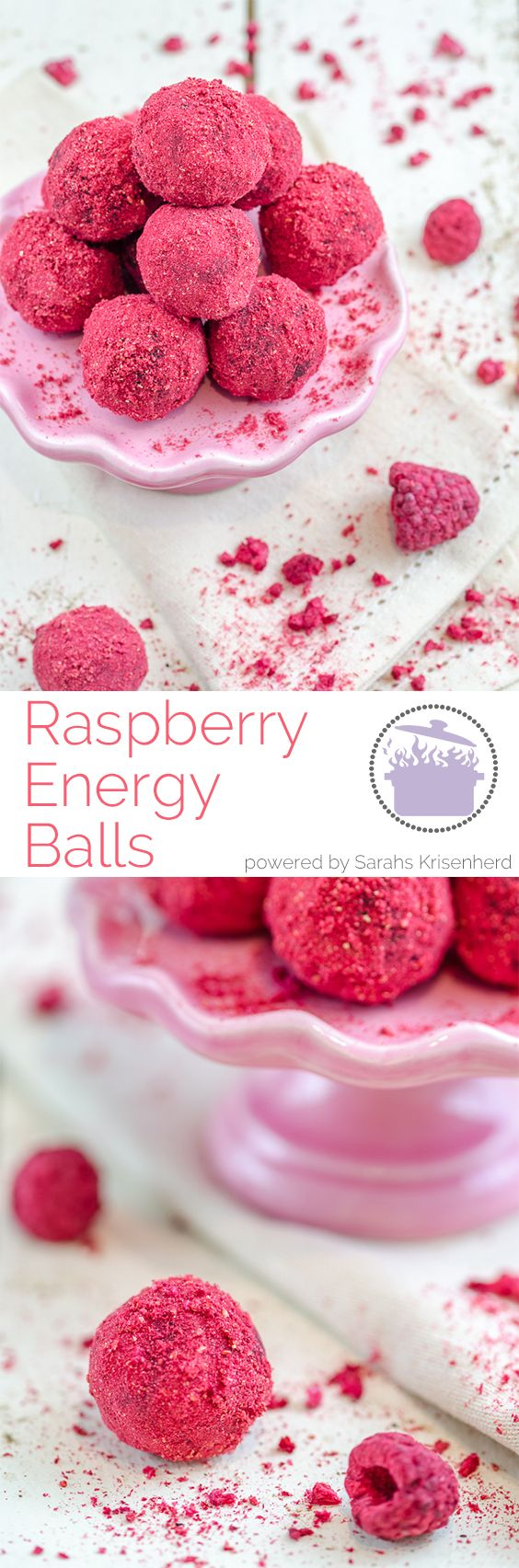 Raspberry Energy Balls - super easy and healthy!