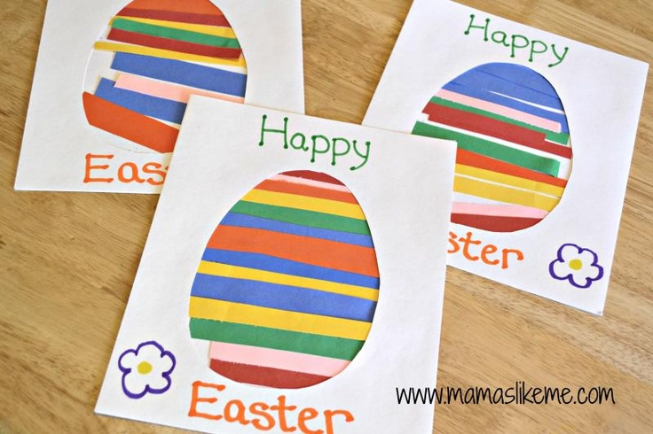 Mamas Like Me: 3 Easter Egg Crafts. Draw the oval and cut long strips of construction paper. Have child/student use math skills and trim off the excess construction paper.