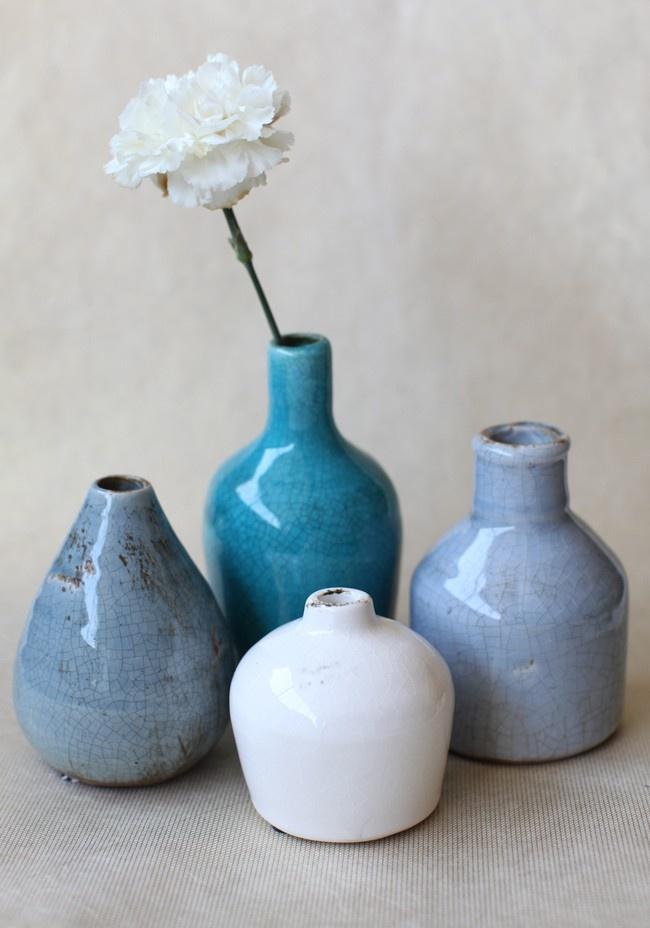 Pebble Sea Vase Set   Modern Vintage Home & Office