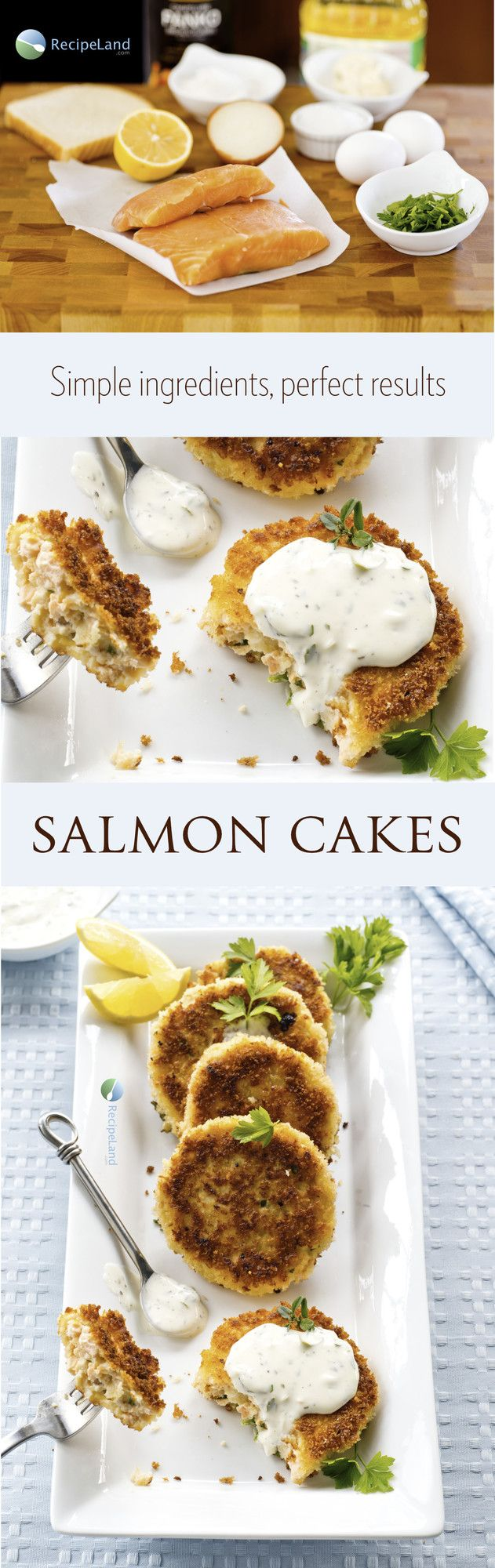 This salmon cake recipe uses fresh instead of canned salmon, and details step-by-step how to make salmon cakes.