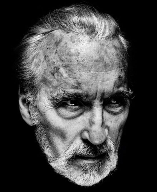 Christopher LeeFace, Monochrome Photography, Christopher Lee, Photography Portraits, Celebrities, Actor, People, Photography Inspiration, Nadav Kander