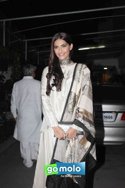 Sonam Kapoor at the Screening of Hindi movie 'Bajirao Mastani' at Sunny Super Sound in Mumbai