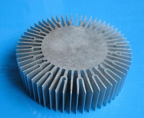 LED radiator 10-30W aluminum radiator Sunflower aluminum radiator diameter:110mm,solid 60mm,high 30mm ,not have hole  heatsink