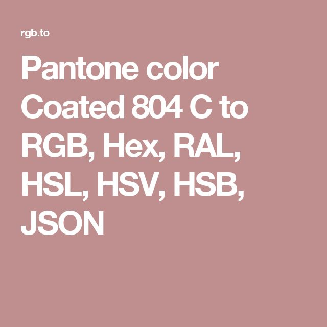 pantone color coated 804 c to rgb hex ral hsl hsv