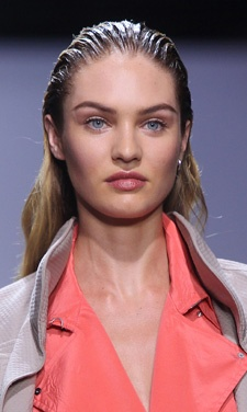 Guido Palau for Spring/Summer New York Fashion Week 2013. His inspiration was the 'nineties minimalism' with a dual component- sleek at the top and dry at the bottom. Definitely a head-turner! #Sleek #Hair #2013 #ParelleCosmetics #Beauty