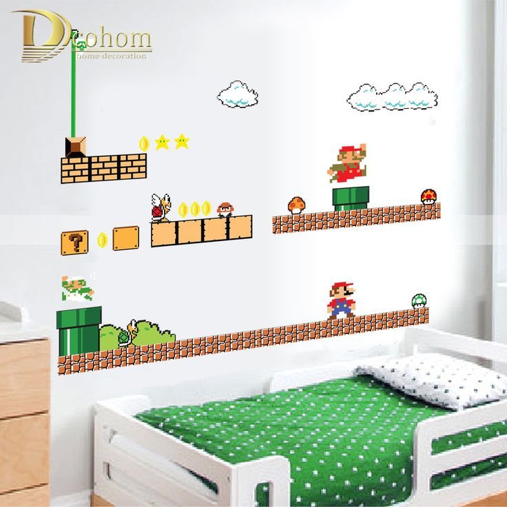 Removable-Cartoon-font-b-Super-b-font-font-b-Mario-b-font-font-b-Bros-b.jpg (900×900)