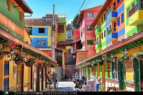 http://www.PlsFunnel.com/33273875  The Pastel Houses of Guatape Colombia