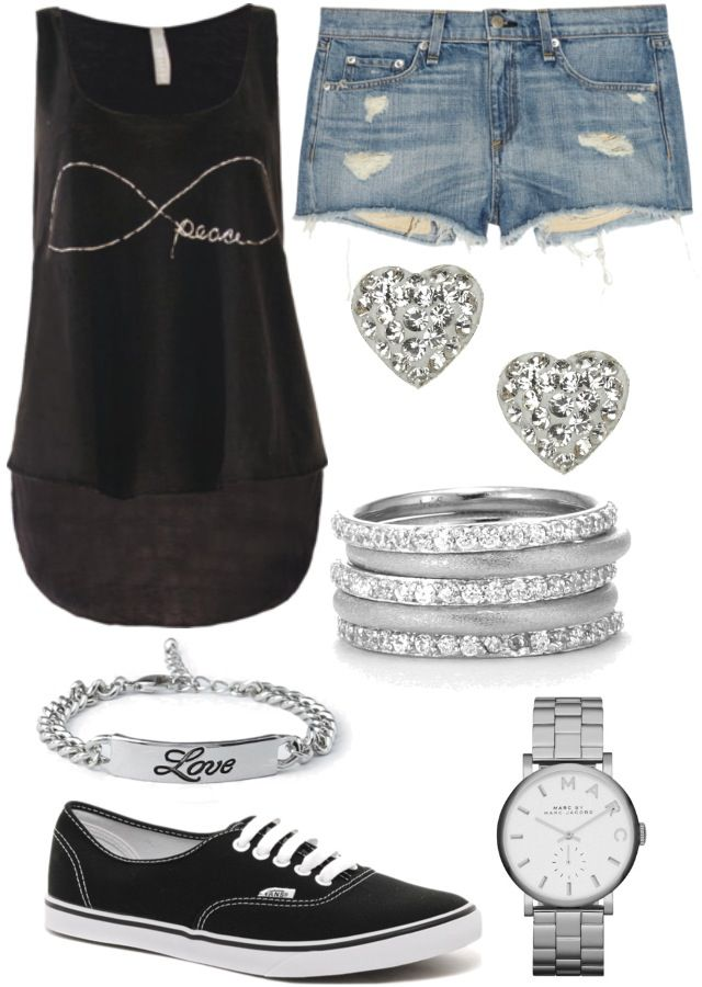Polyvore outfit (wouldn't wear the earrings)