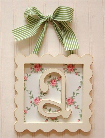37 best Wooden letter frames images on Pinterest | Scrabble letters ...