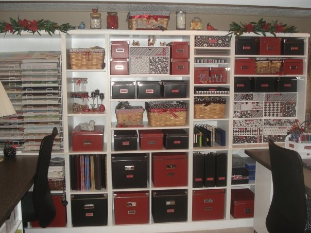 Craft room!! Organization is key! She literally knows everything she has and where it's at!