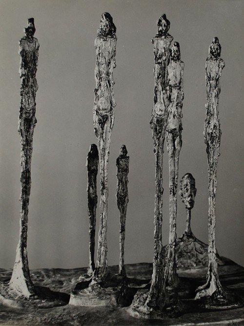 Alberto Giacometti sculptures in bronze