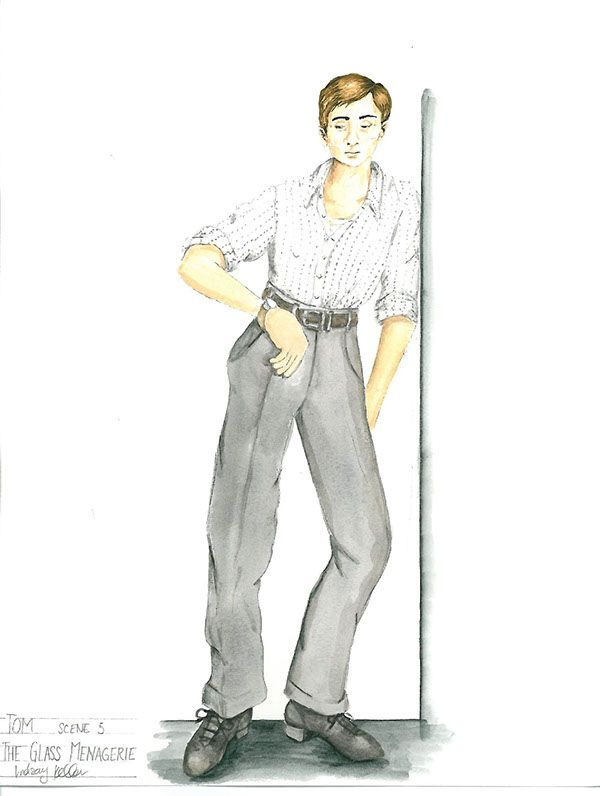 The Glass Menagerie On Behance The Glass Menagerie Glass Male Sketch
