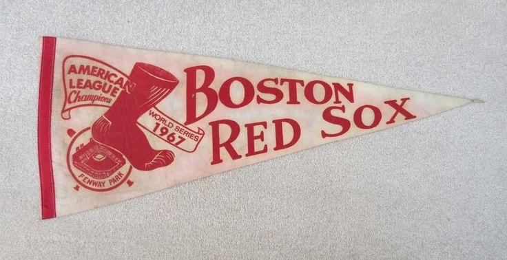 VINTAGE ORIGINAL 1967 BOSTON RED SOX AL CHAMPIONS WORLD SERIES BASEBALL PENNANT