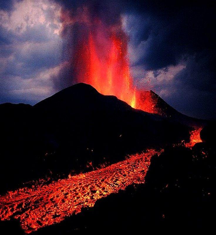 Best Pictures Of Volcanoes Images On Pinterest Fox Hawaii - Incredible neon blue lava flames erupt volcano