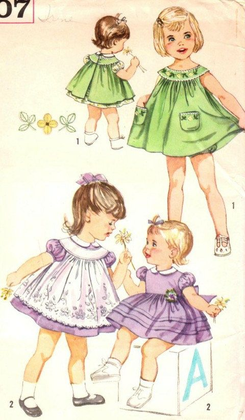 Vintage 1950s Toddler's Dress Pinafore