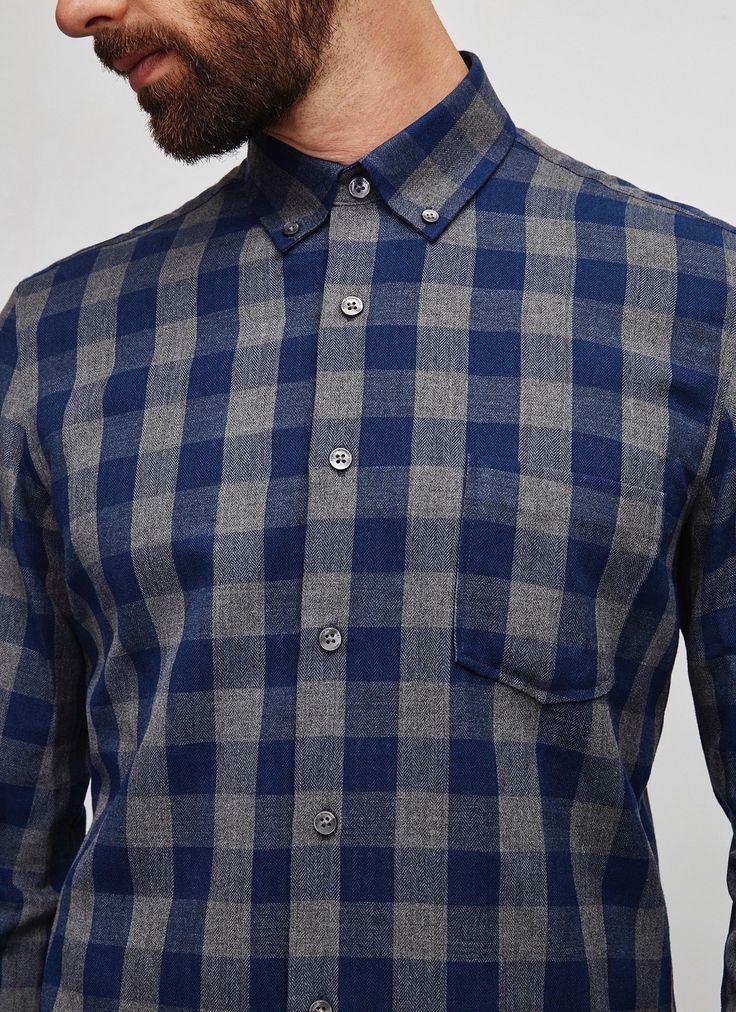 Camisa de cuadros bicolor - AD Hombre | Adolfo Dominguez shop online