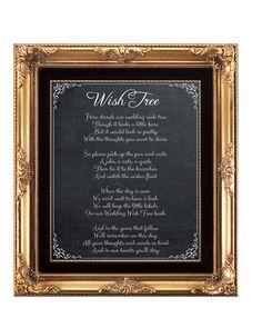 printable wedding sign, chalkboard wedding sign, wish tree sign, wish tree poem, chalkboard wish tree sign, printable wish tree, 8 x 10 by OurFriendsEclectic on Etsy https://www.etsy.com/listing/205504122/printable-wedding-sign-chalkboard
