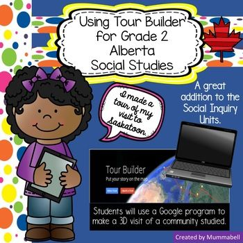 This resource goes perfectly with my other Social Studies resources  Adventure to Meteghan, Journey to Iqaluit, and Springtime in Saskatoon. For all 3 communities, the students take a trip to each community and explore what each has to offer. You can use this resource at any point in your trip, and for any of the communities or all of them.