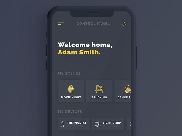Smart Home UI Example