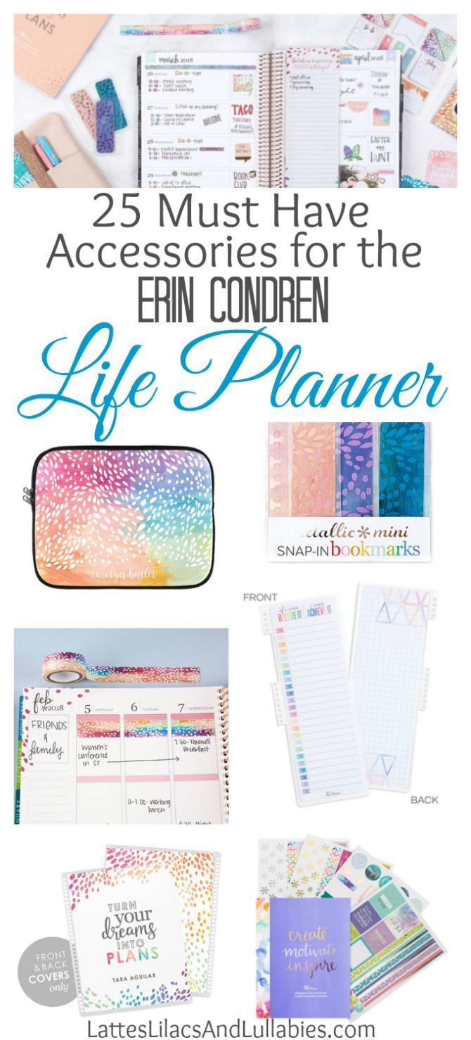 25 Accessories for the Erin Condren Life Planner