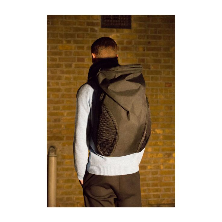 You're not just another brick in the wall. Mirroring the curvature of the spine, the Nile Ecoyarn rucksack from côte&ciel is ergonomically designed to rest comfortably against the lower back and boasts two mesh front pockets.