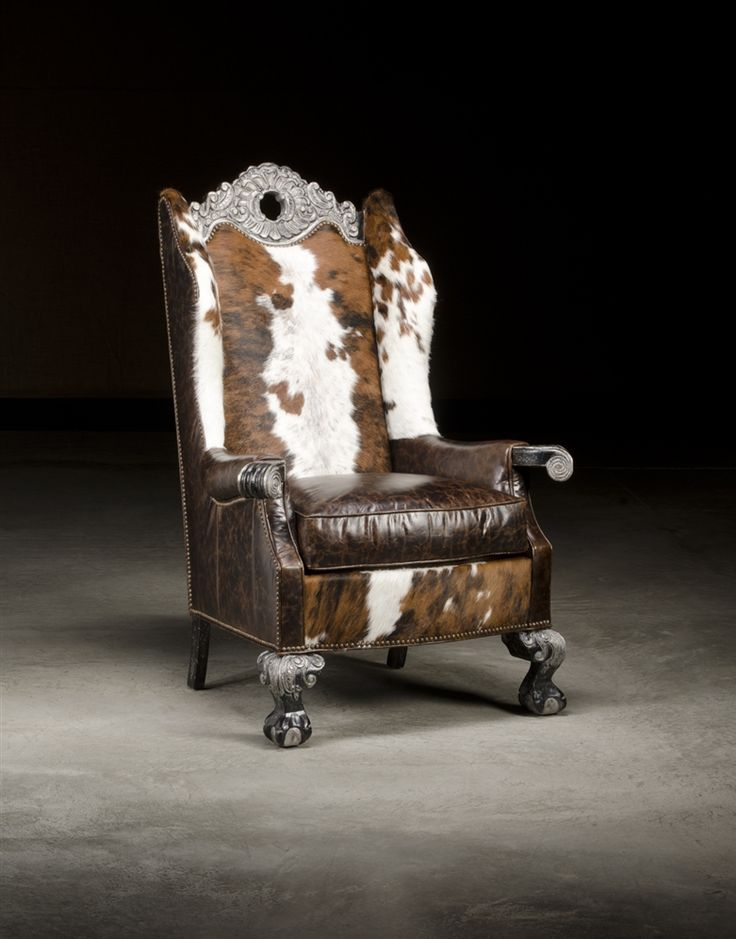 Spotted Hair Hyde Chair, High End Luxury Leather Furniture · Leather  FurnitureLeatherUpholstered FurnitureWestern CowboyHydeRanch ...