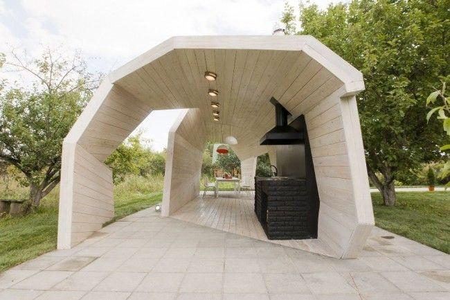 HappyModern.RU | Беседки с печкой, мангалом или барбекю (50 фото) — отличное место для приятного отдыха | http://happymodern.ru